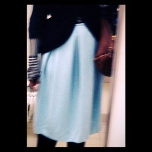 Chelsea 28 baby blue pleated circle skirt